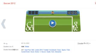 Google Doodle今度はサッカー PKでせまりくるシュートからゴールを守れ!