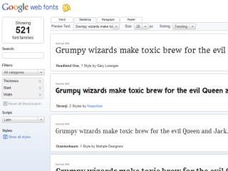 Google web fonts APIで自由なテキストデザインを