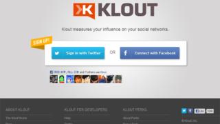 ソーシャルネットワーク上で自分がどれくらい人に影響を与えているかわかるサービス