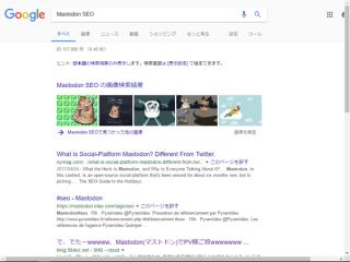 キーワード「Mastodon」「SEO」「PV」によるSEOが完了しました