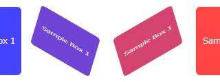 CSSのtransformでクルクル回転するパネルのサンプル